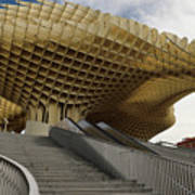 Stairway Leading Up To Metropol Parasol In The Plaza Of The Inca Art Print