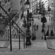 Stairway On Montmartre Art Print