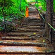 Stairway To Heaven Impasto Art Print