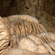 Stalactite Formation In Karst Cave Art Print