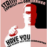 Stamp Out Syphilis And Gonorrhea Art Print