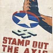 Stamp Out The Axis - Folded Art Print