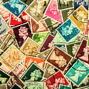 Stamping The Royal Mail Art Print