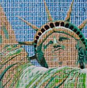 Stampue Of Liberty Art Print