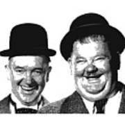 Stan And Ollie - Parallel Hatching Art Print