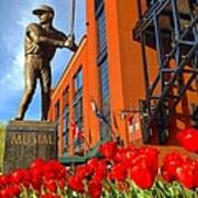 Stan Musial Statue On Opening Day  Art Print