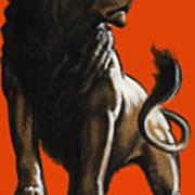 Stand Firm Lion - Ww2 Art Print