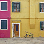 Standing By For A Quick Get Away In Burano Italy Art Print