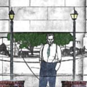 Standing On A Corner In Asheville Carolina Art Print