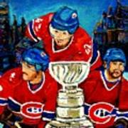 Stanley Cup Win In Sight Playoffs   2010 Art Print by Carole Spandau