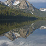 Stanley Lake Reflections Art Print