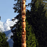 Stanley Park Totem Pole Vancouver Art Print