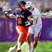 Stanwick Lacrosse Art Print