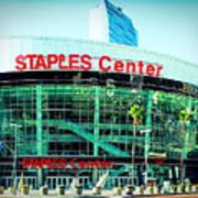 Staples Center Color Art Print