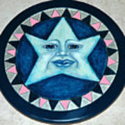Star Face Lazy Susan Art Print