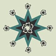 Star Flower - The Light Side Art Print