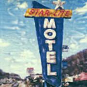 Star-lite Motel Art Print