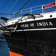 Star Of India Tall Ship San Diego Bay Art Print