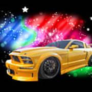 Star Of The Show - Mustang Gtr Art Print