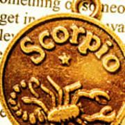 Star Sign In Scorpio Art Print