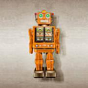 Star Strider Robot Orange Art Print