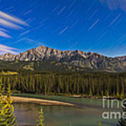 Star Trails Above The Front Ranges Art Print