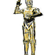 Star Wars C-3po Droid Tee Art Print