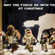 Star Wars Christmas Card Art Print