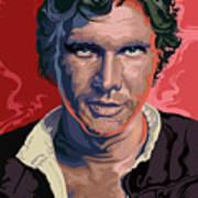 Star Wars Han Solo Pop Art Portrait Art Print