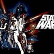 Star Wars Movie Poster Art Print