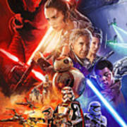 Star Wars The Force Awakens Artwork Art Print