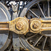 Starboard Drive Wheels And Connecting Rods No. 9000 Art Print