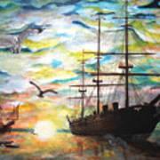 Starboard Flight Art Print
