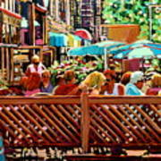 Starbucks Cafe On Monkland Montreal Cityscene Art Print