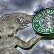 Starbucks Coffee Art Print