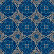 Stardrop Diamond Blue Art Print