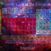 Stardust Periodic Table Art Print