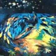 Starfish Night Art Print