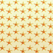 Starfish Pattern. Art Print