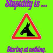 Staring Bigstock Donkey 171252860 Art Print