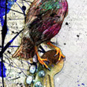 Starling On A Strat Art Print