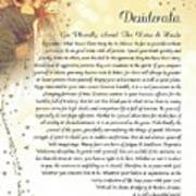 Starry Guardian Angel Desiderata Art Print