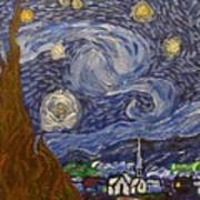 Starry Night - An Ode To Vincent Art Print
