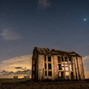 Starry Night At Dungeness Art Print