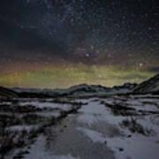Starry Night In Iceland Art Print