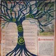 Starry Night-inspired Tree Art Print