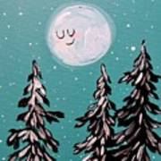 Starry Night Moon  Art Print