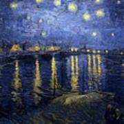 Starry Night Over The Rhone Art Print