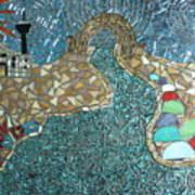 Starry Riverwalk Art Print