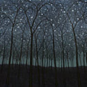 Starry Trees Art Print